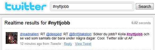 Sök jobb genom Twitter
