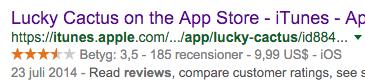 Lucky Cactus betyg i App Store